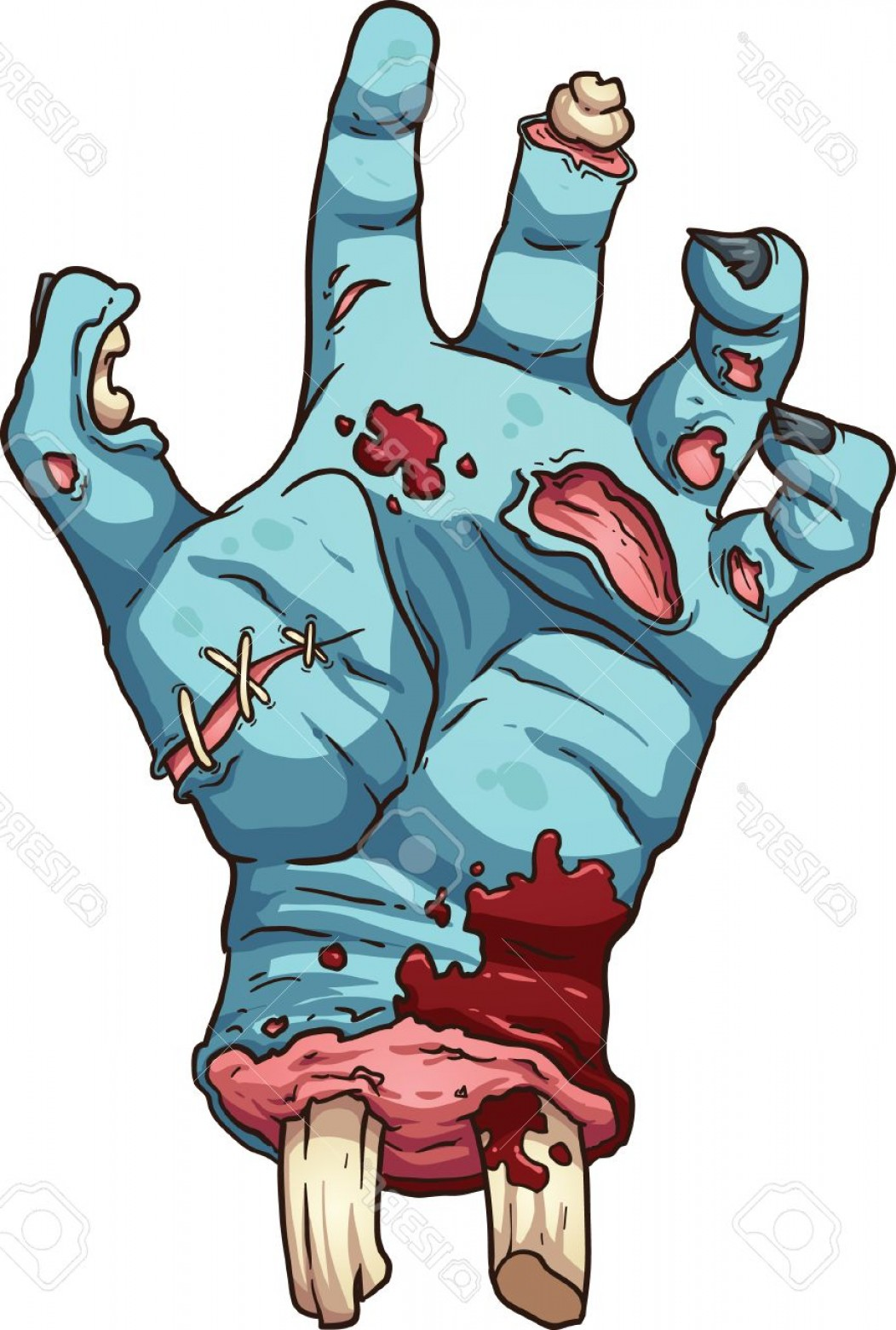 Hand Vector Clip Art: Photostock Vector Zombie Hand Vector Clip Art Illustration With Simple Gradients All In A Single Layer