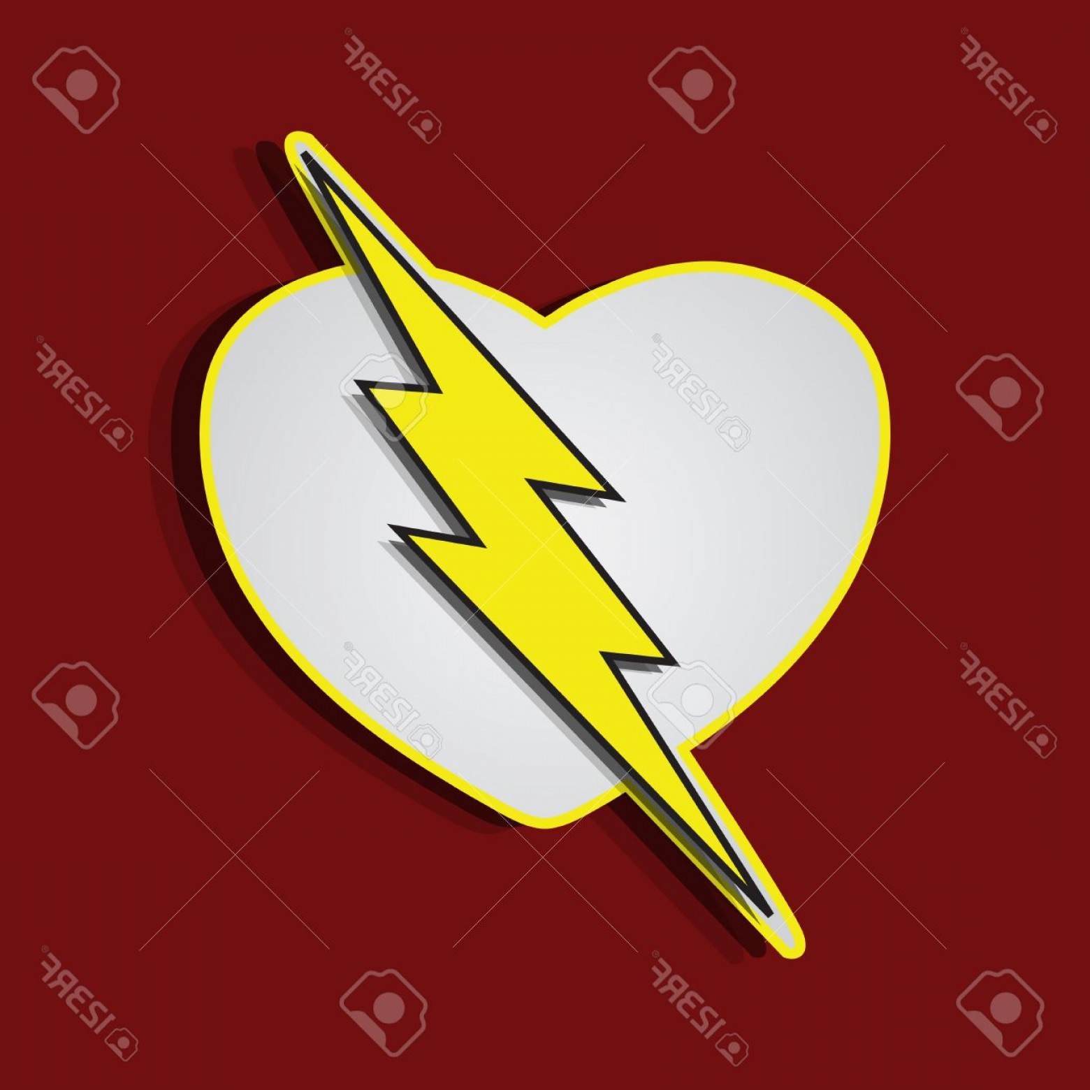 Flash Superhero Logo Vector: Photosuperhero Shields Shaped Like A Hearts Symbol For Strong Love Eps Vector