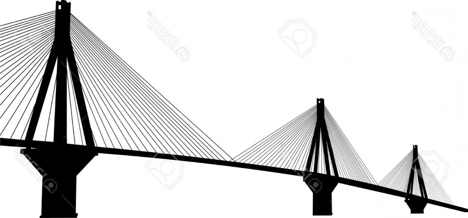 Suspension Bridge Vector: Photosuspension Bridge Crossing Corinth Gulf Strait Greece Is The World S Second Longest Cable Stayed Bri