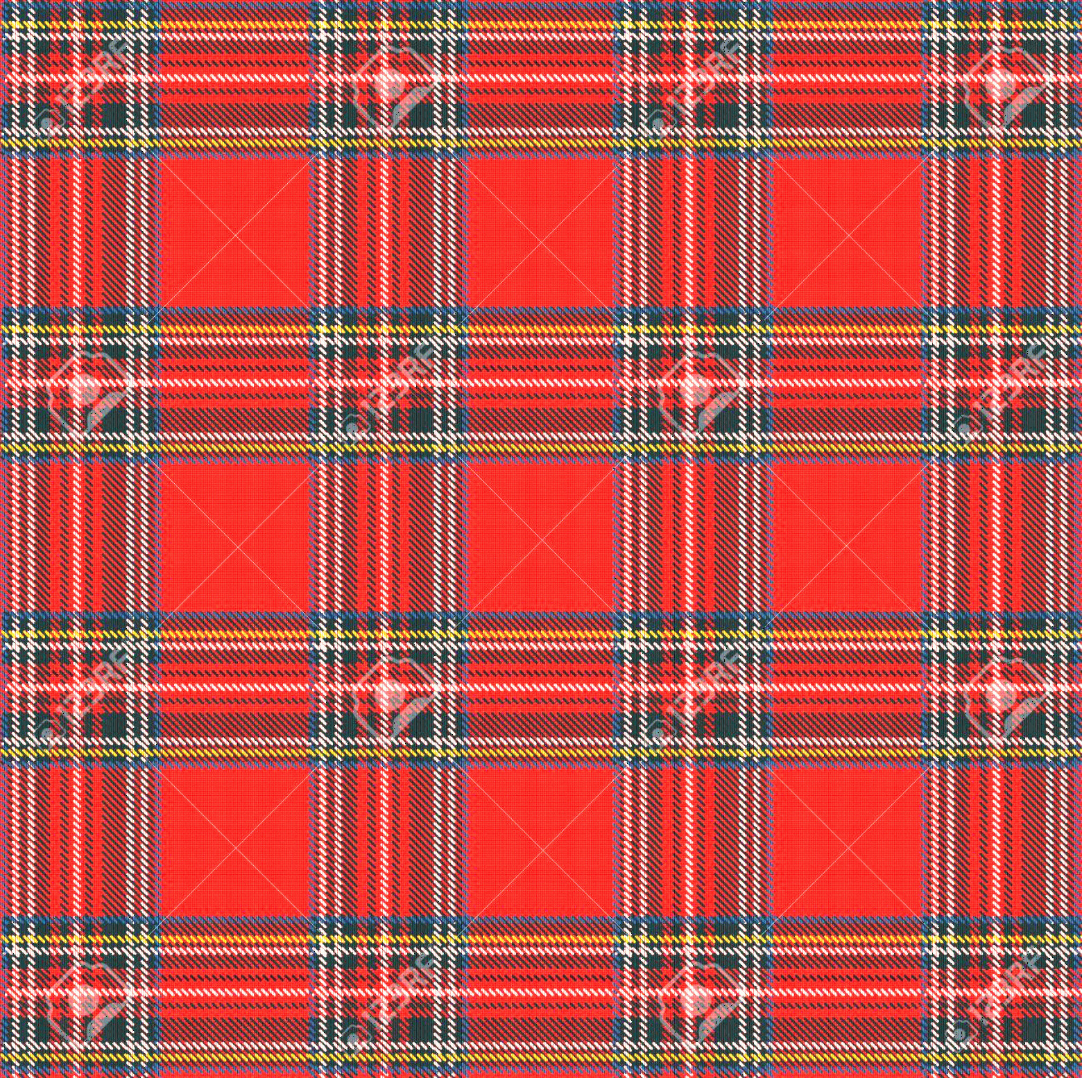 Plaid Vector: Phototartan Plaid Vector Pattern Background With Fabric Texture