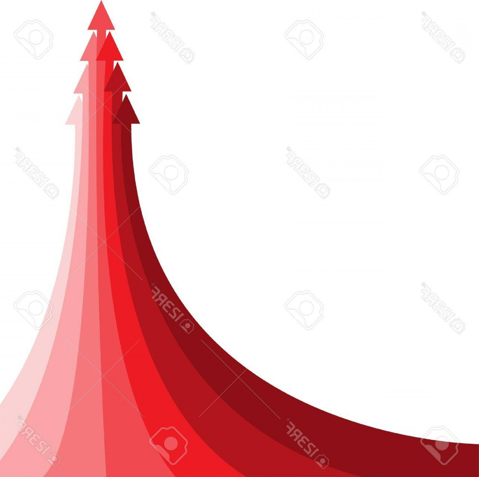 Small Arrow Vector: Photothe Big Red Arrow Consisting Of The Several Small