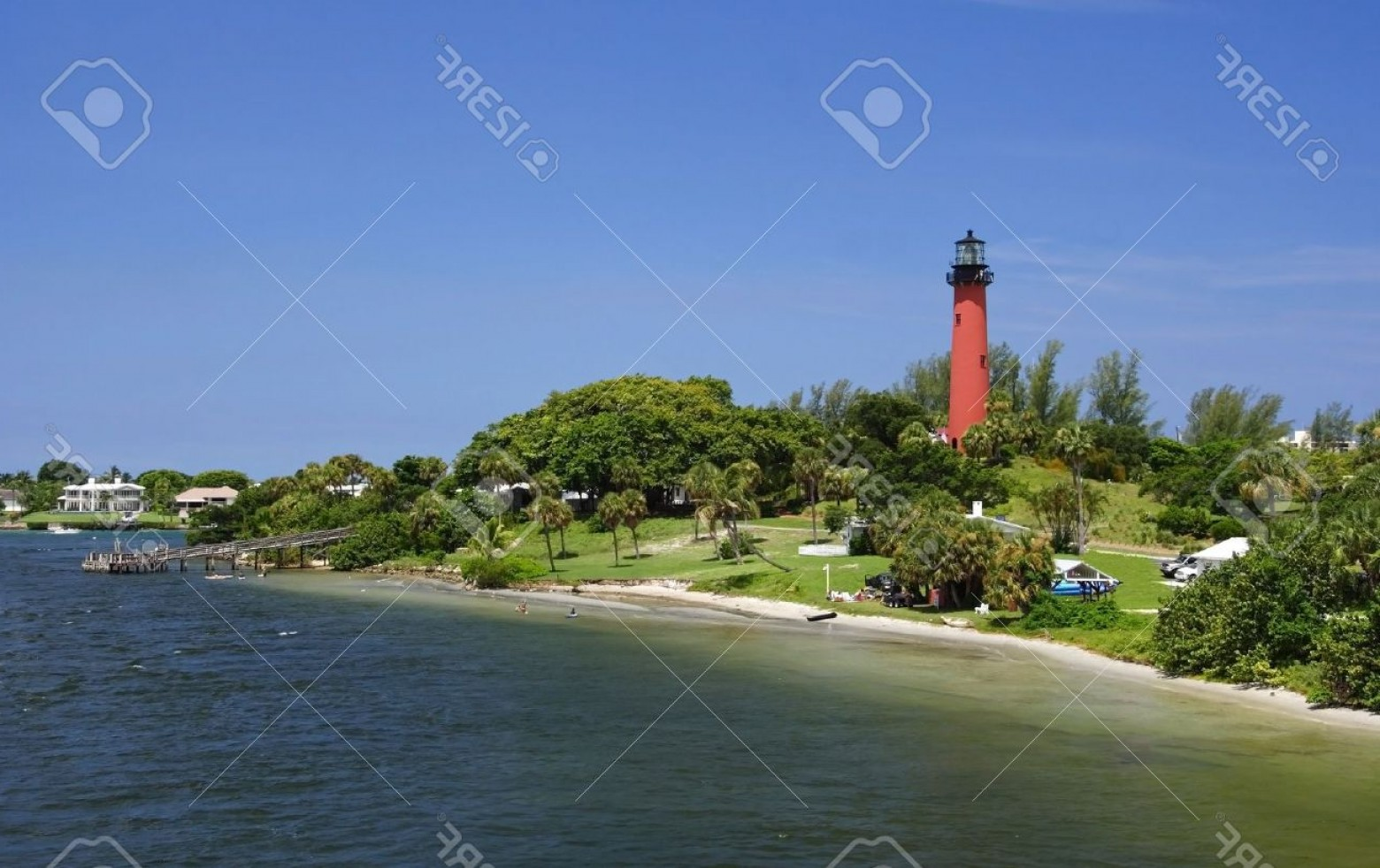 Jupiter Lighthouse Vector: Photothe Old Jupiter Inlet Lighthouse In Jupiter Florida