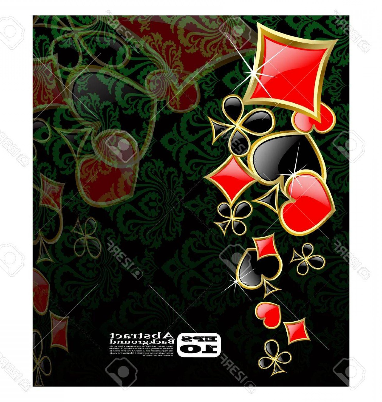 10 Playing Card Vector: Photothe Vector Abstract Play Card Background Eps