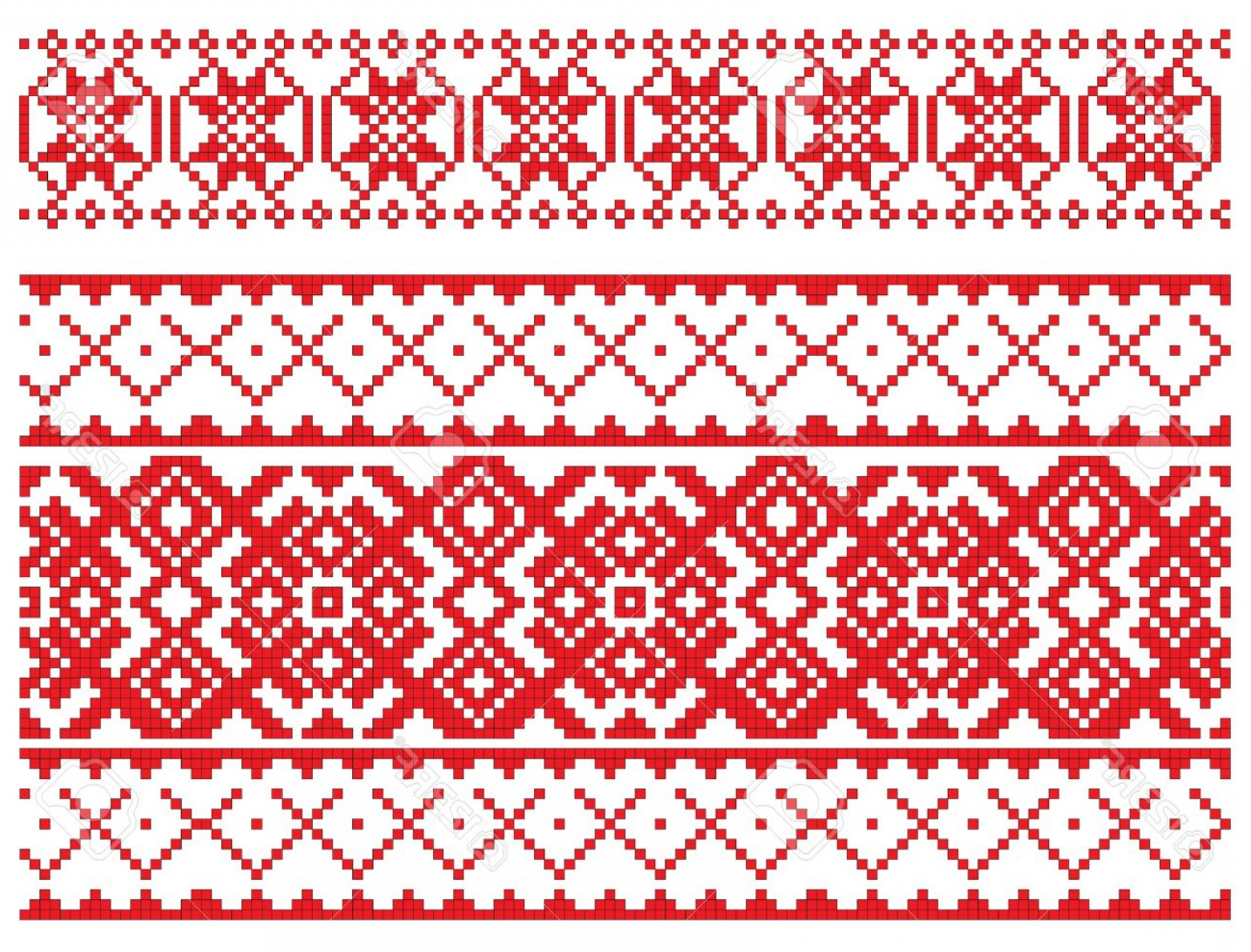 Russian Patterns Vector: Photothere Is A Scheme Of Russian Pattern For Embroidery