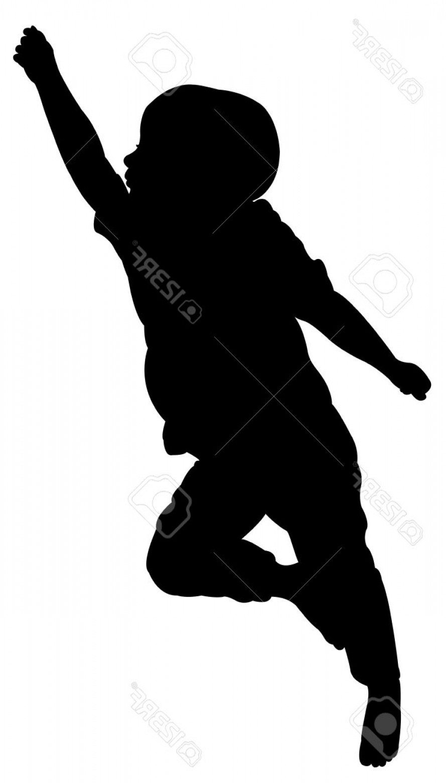 Little Boy Silhouette Vector: Phototwo And A Half Years Old Baby Boy Sleeping Silhouette Vector