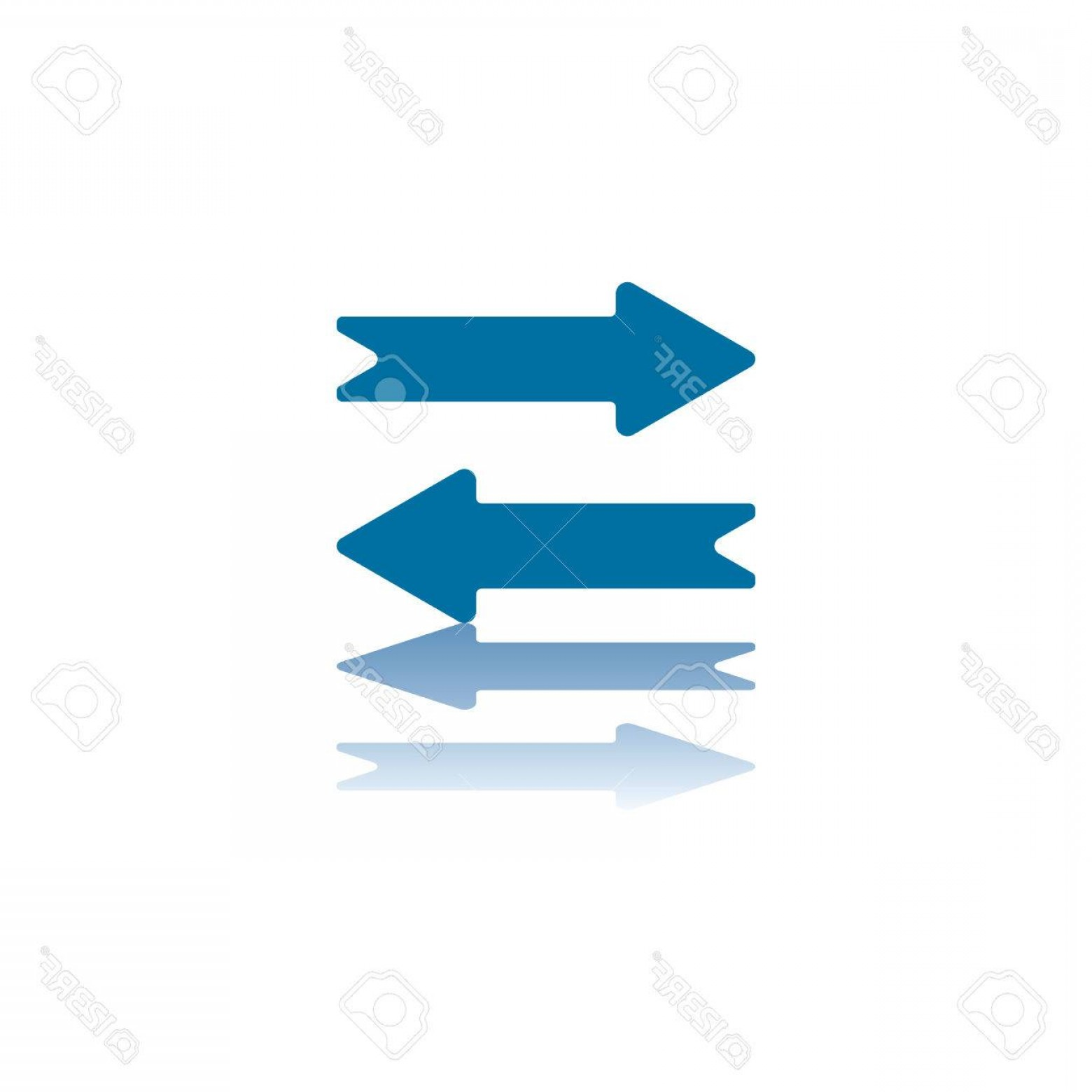 When Two Vectors Are Parallel: Phototwo Parallel Horizontal Arrows Top Pointing Left Bottom Pointing Right