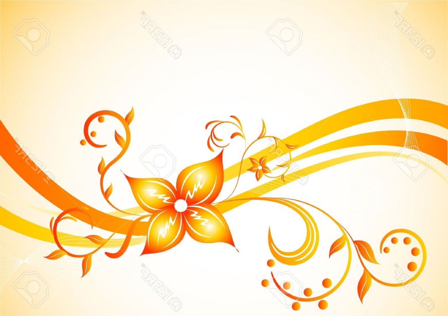 Vector Background Clip Art: Photovector Background With Flower Clip Art