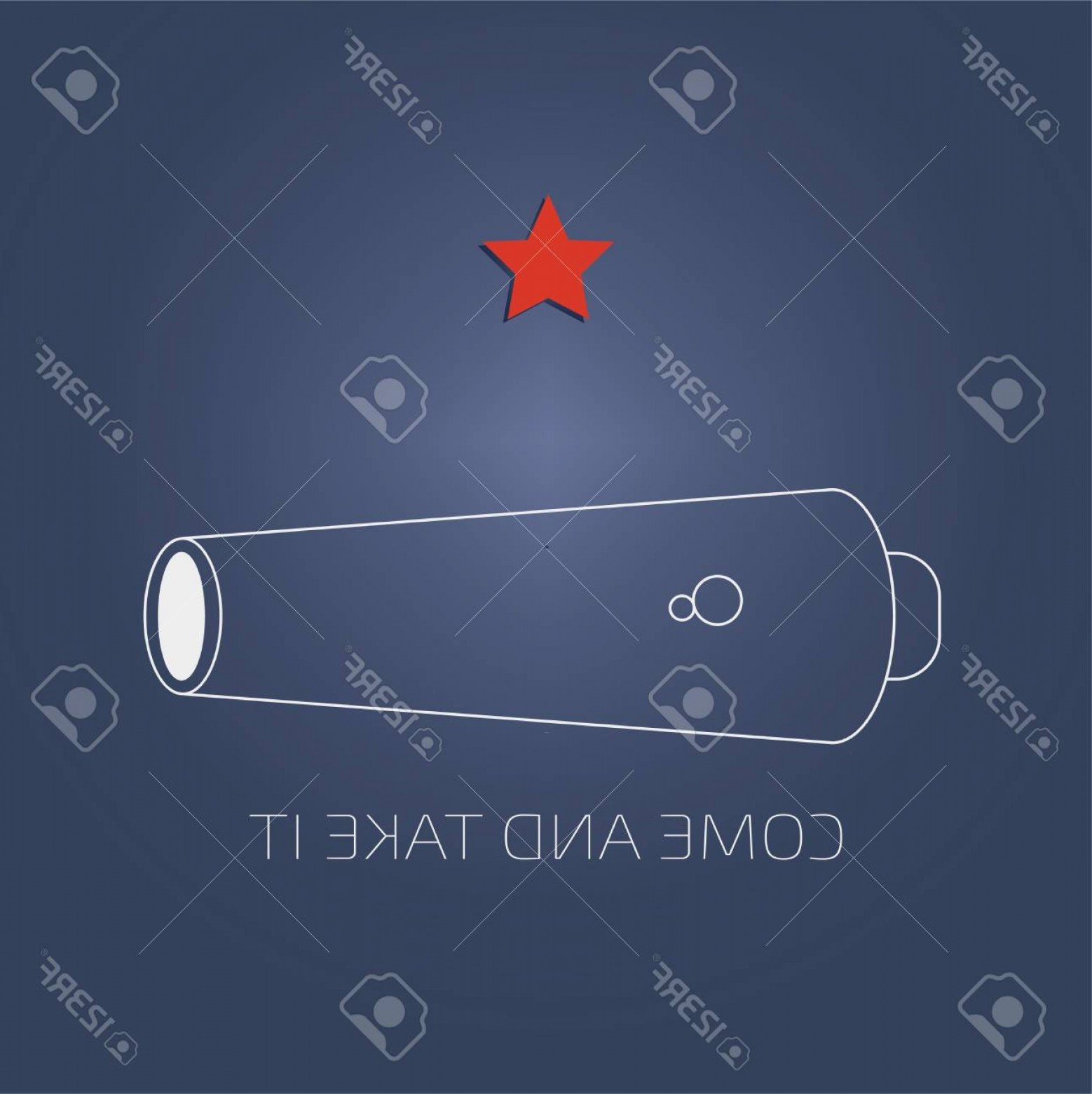 Vector Ancient Battle: Photovector Illustration For The Day Of Battle Of Gonzales The First Military Engagement Of The Texas Re