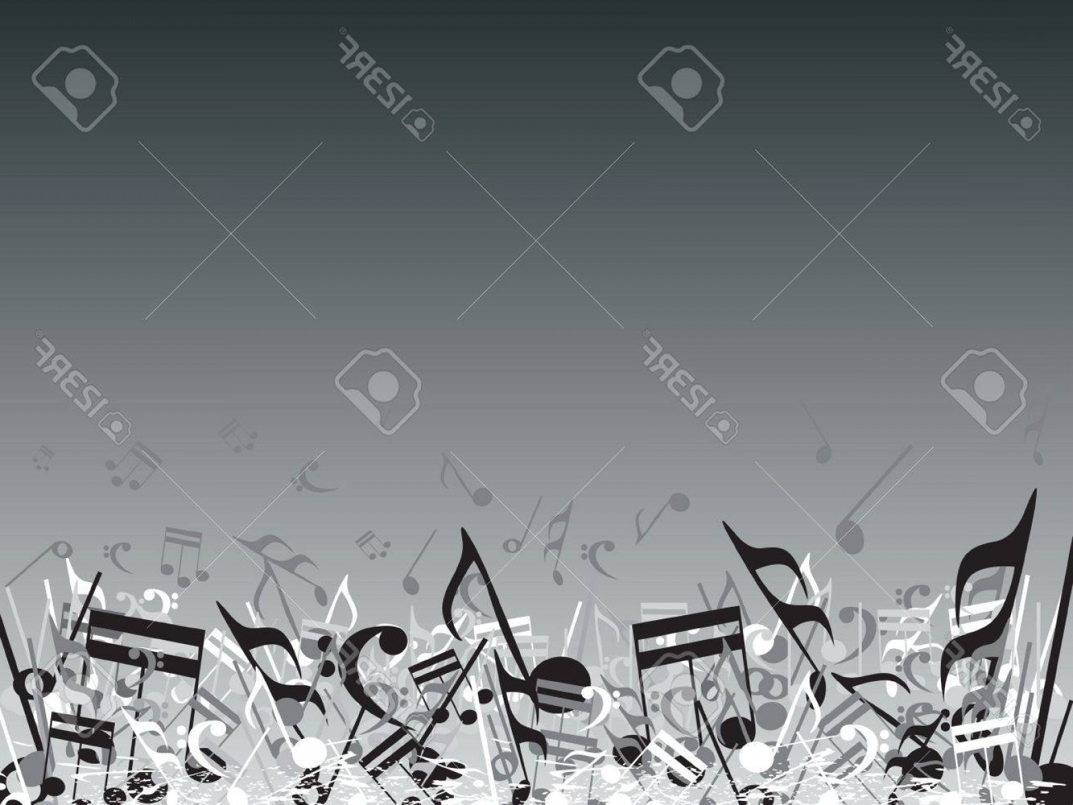 Flourish Music Note Silhouette Vector: Photovector Illustration Of Beautifull Musical Notes Background Enjoy The Party