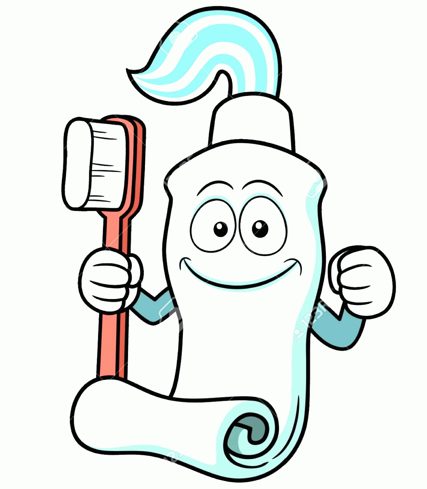 Toothpaste Cartoon Vector: Photovector Illustration Of Toothbrush And Toothpaste Cartoon