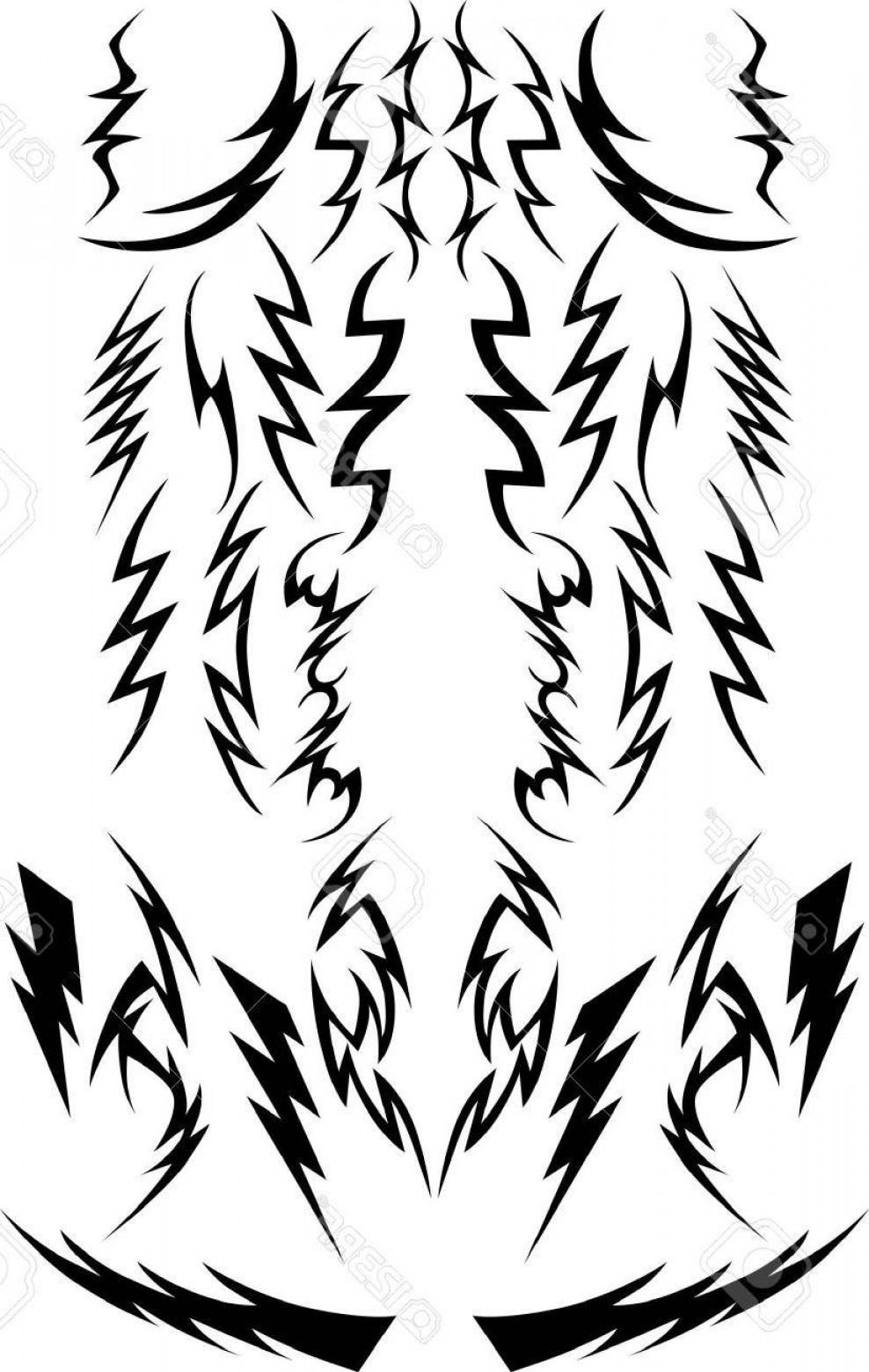 Vector Lightning Bolt Tribe: Photovector Images Of A Variety Of Lightning Bolts