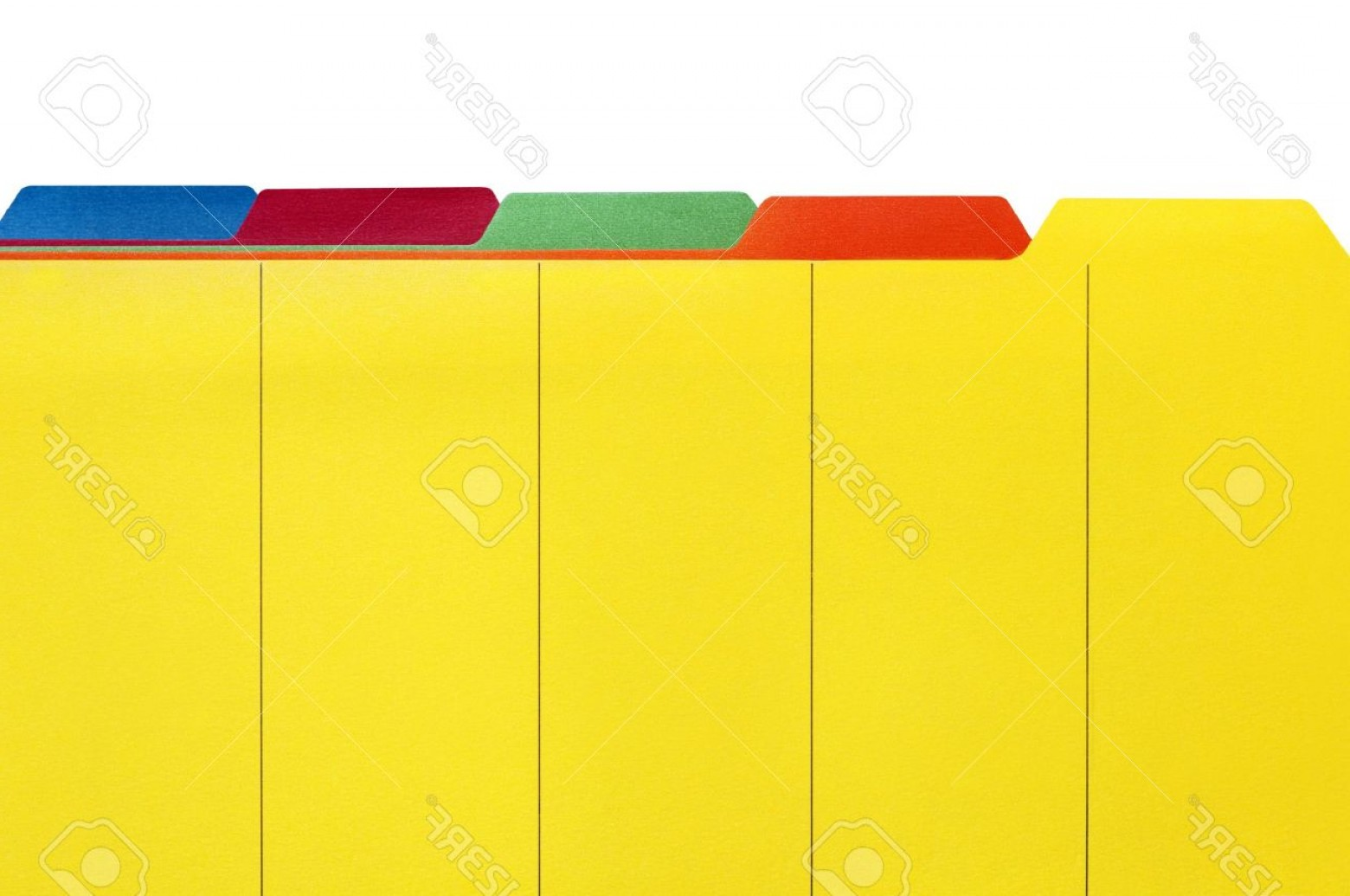 Folder Tab Vectors: Photovibrant File Divider Tabs Ready For Your Own Labels White Background
