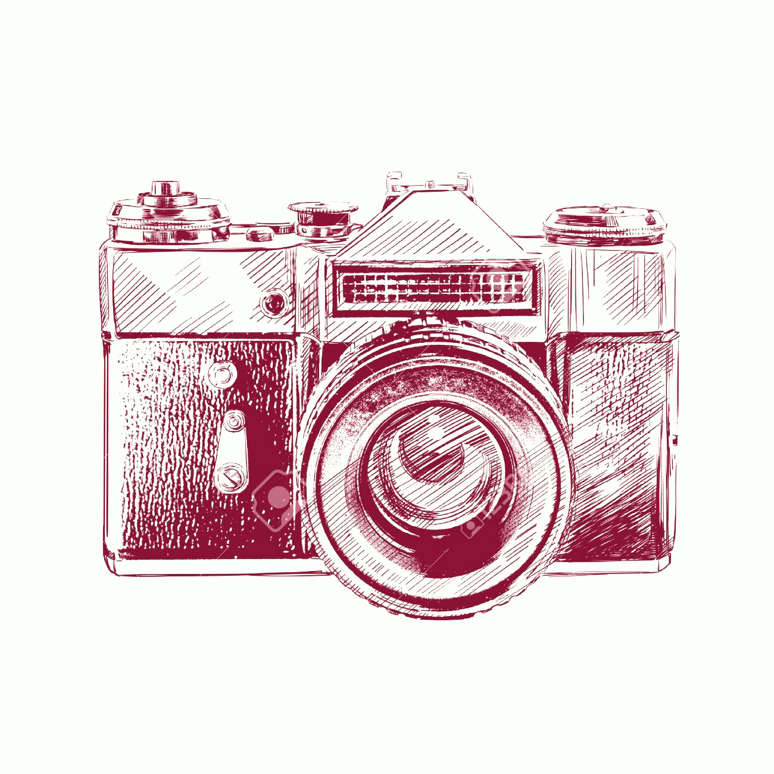 Classic Camera Vector: Photovintage Old Photo Camera Vector Llustration