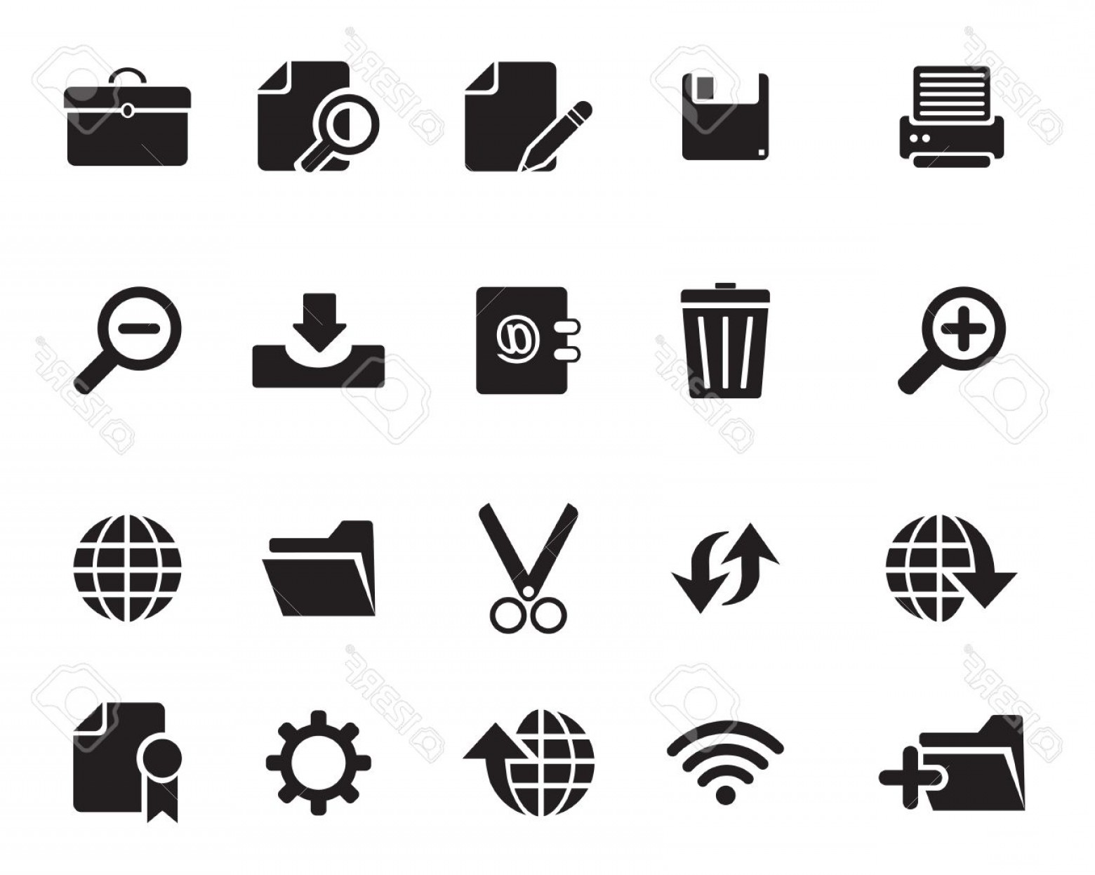 Free Vector File Software: Photoweb Icons Vector Illustrator Available In Jpeg And Eps Formats To Modify This File Editing Software