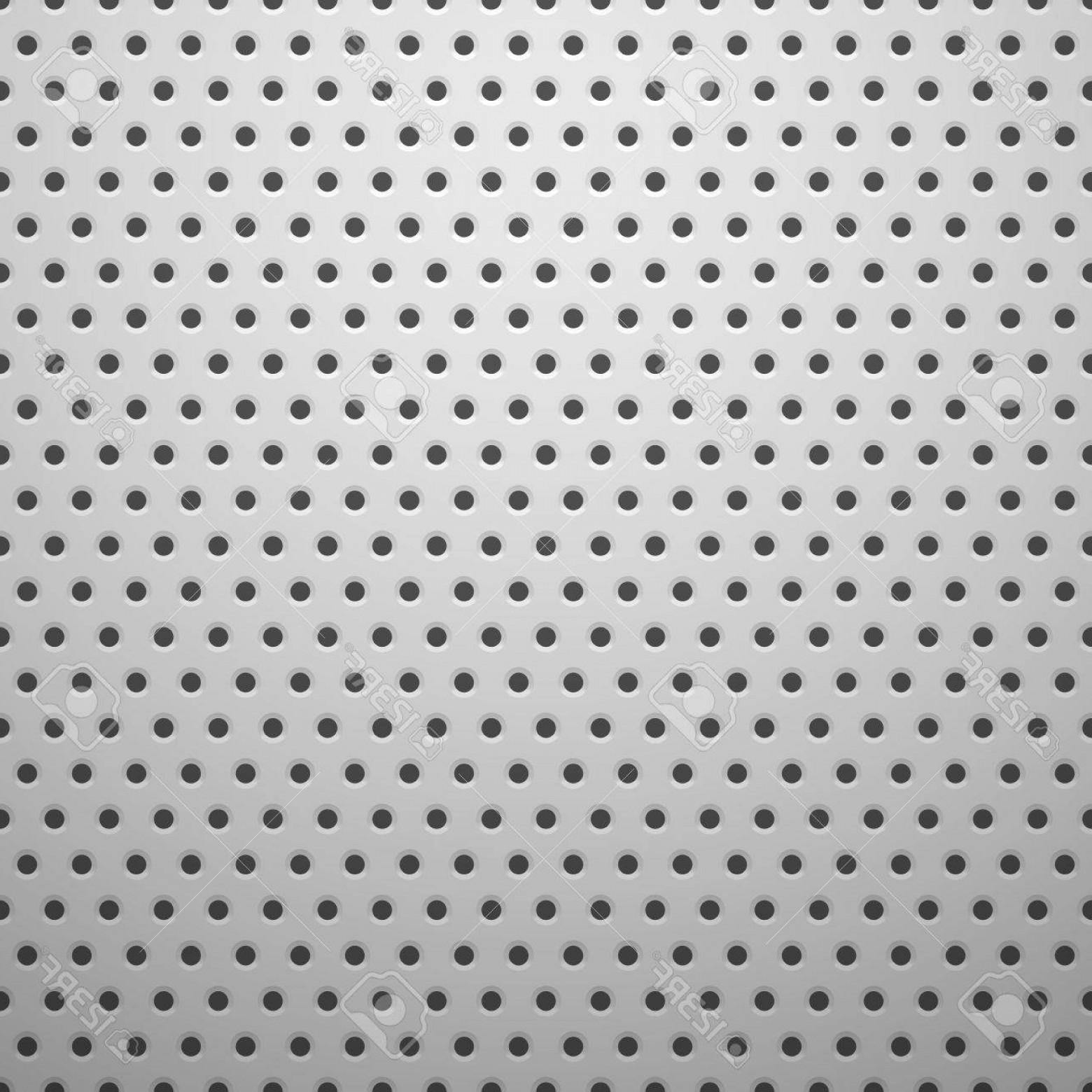 Sheet Metal Effect Vector: Photowhite Metal Texture With Holes Vector Background Illustration