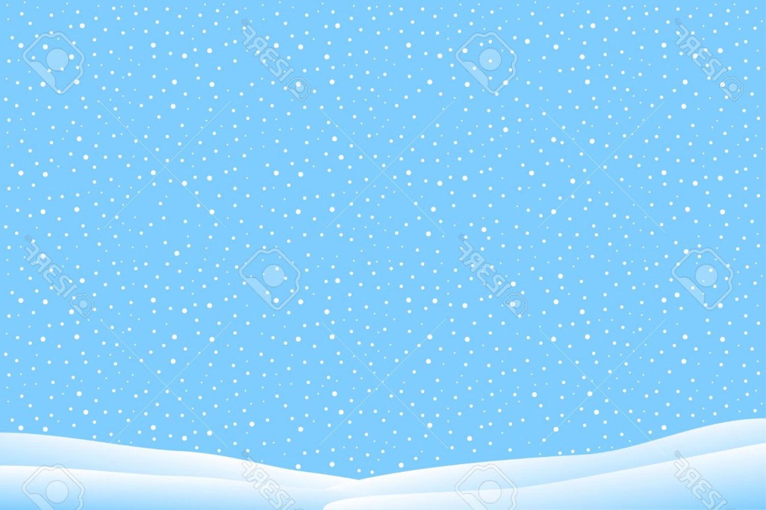Snow Falling Vector Free: Photowinter Landscape With Falling Snow Vector Illustration