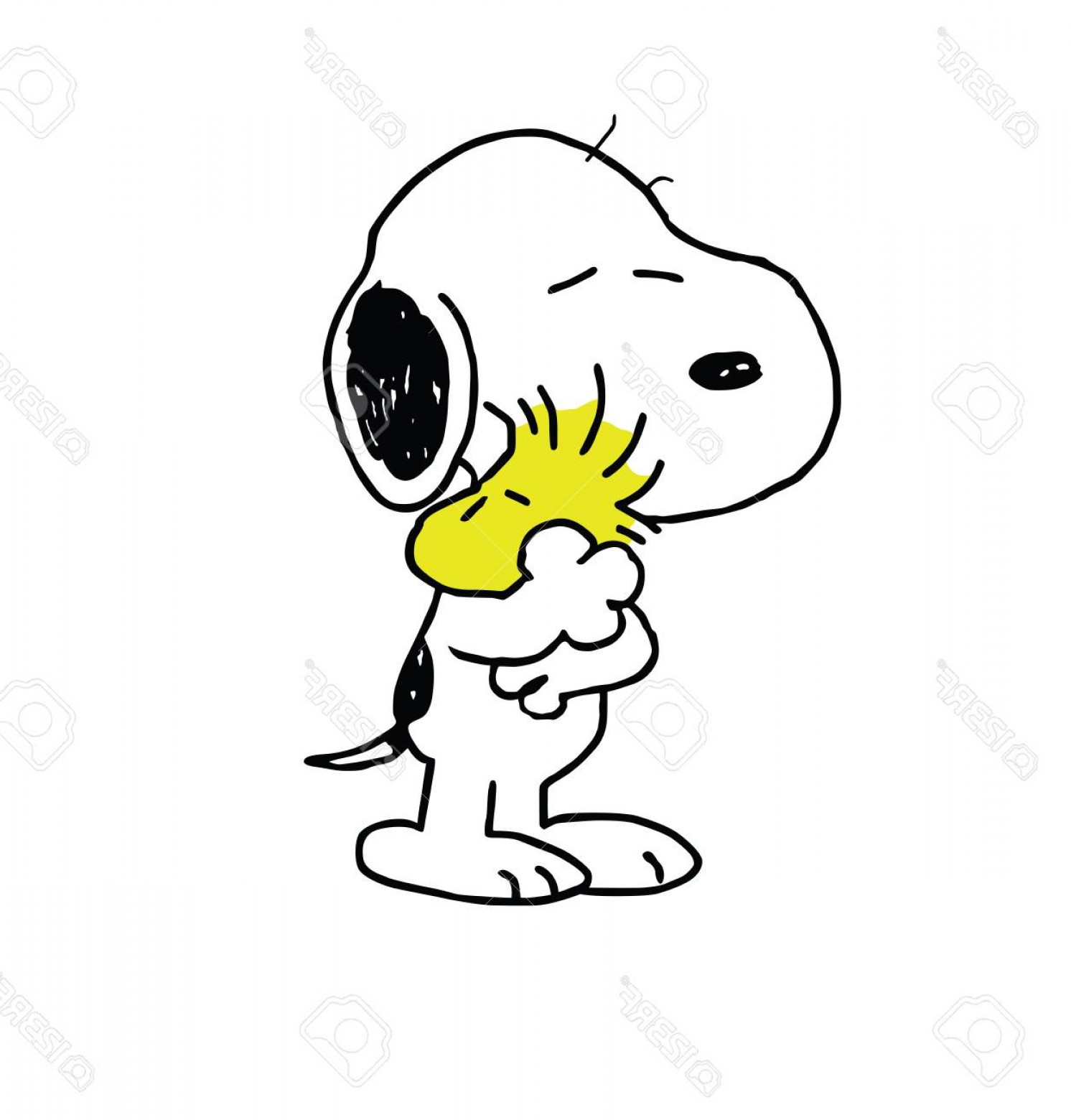 Snoopy Vector Graphic: Photowoodstock Peanuts And Snoopy Hugging Illustration Friends