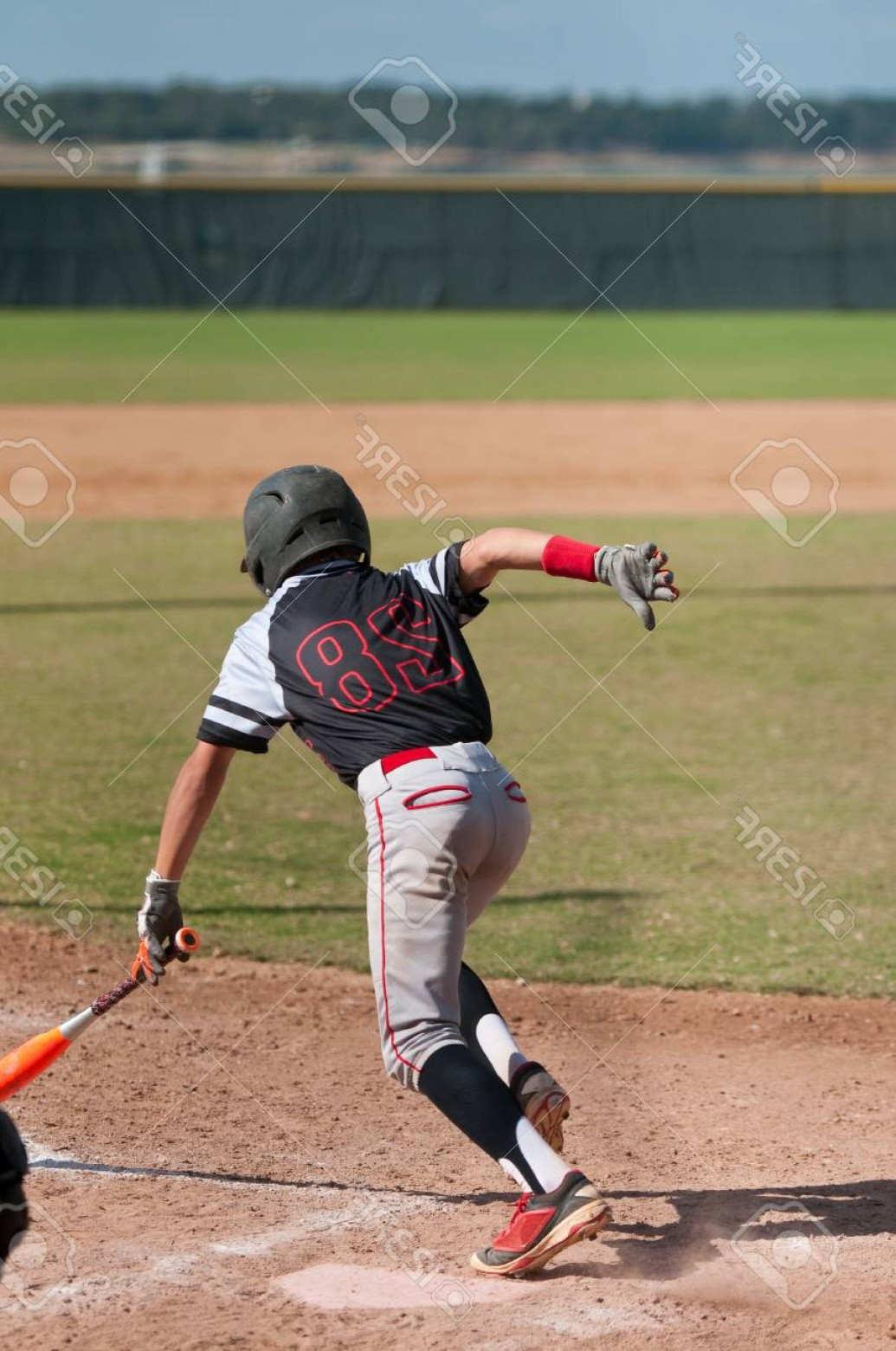 Little League Baseball Vector Logo No Text: Photoyouth Little League Baseball Kid Running To First After Hitting The Ball