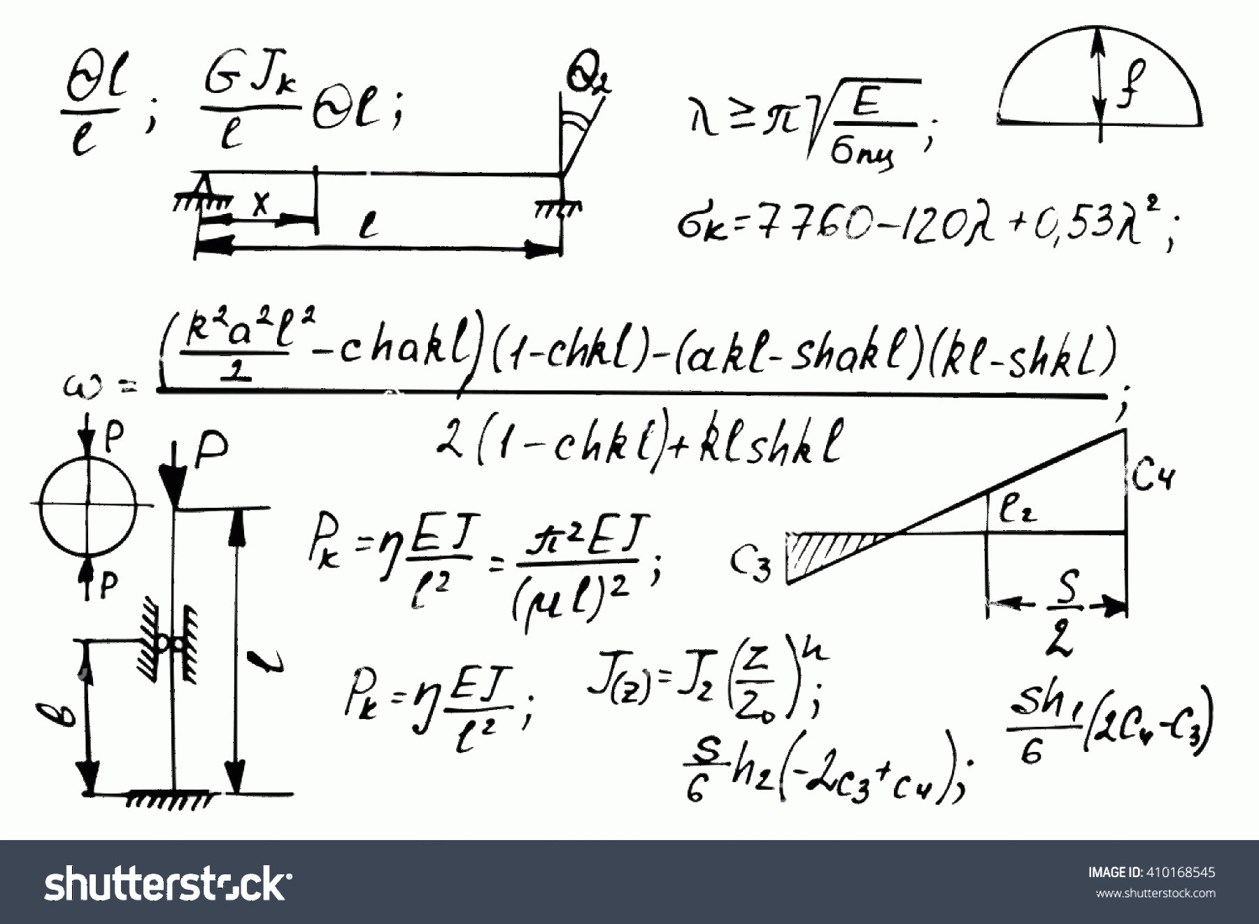 Vector Equation Physical Science: Physical Equations On Whiteboard Science Vector