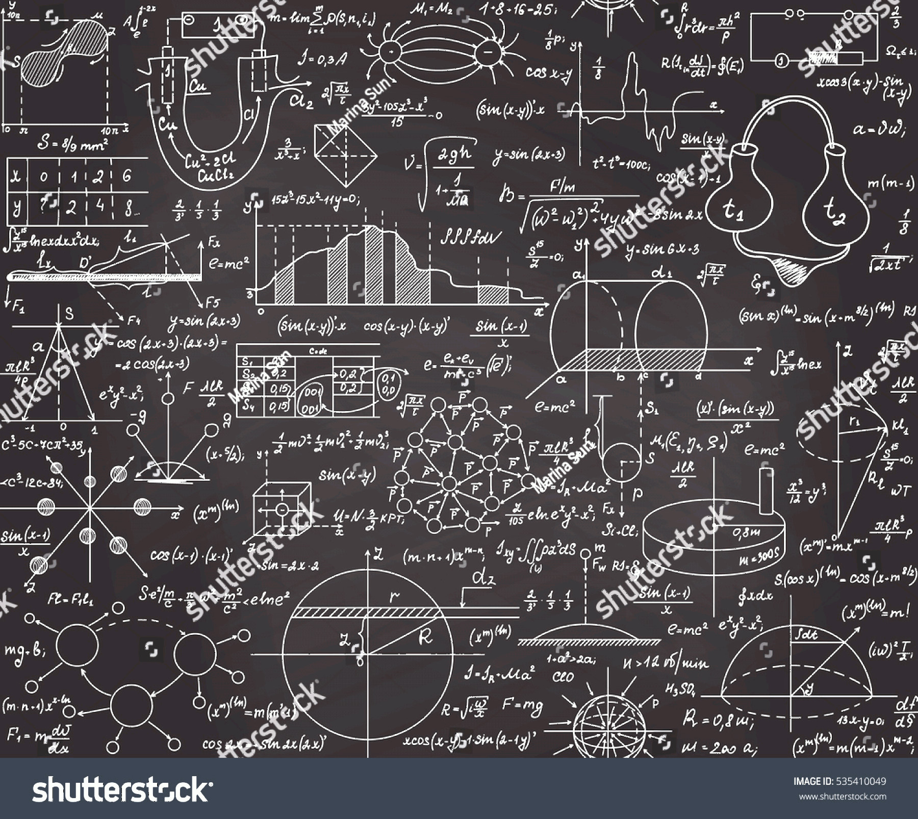 Vector Equation Physical Science: Physical Scientific Vector Seamless Pattern Formulas