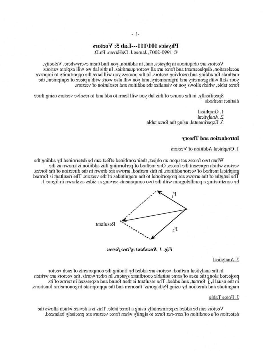 Vectors Trig Precalculus Worksheet: Physics Lab Vectors Graphically Adding Worksheet Fccfaddded