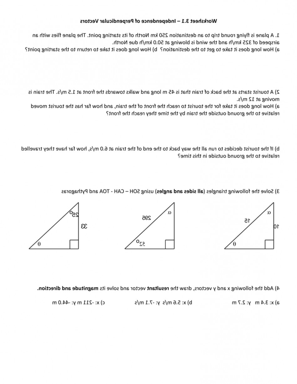Vector Addition By Pythagoras Picture: Physics Trignometry Review And Vector Addition Works