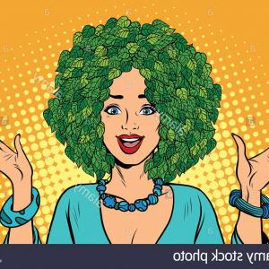 Militant Vector Images: Photo Image Cheveux Femme Eco Nature Plantes Vertes Le Militant Ecologiste Pop Art Retro Vector Illustration