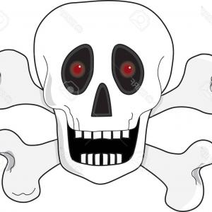 Eye Tribal Skull Vector: Photoa Skull And Crossbones With Fiery Red Eyes