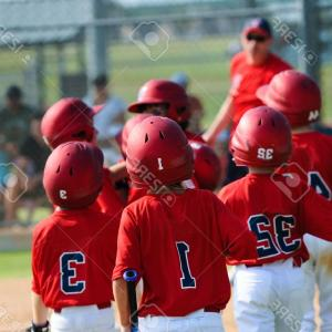 Little League Baseball Vector Logo No Text: Photoa Team Of Little League Baseball Boys