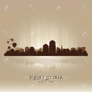 Vector Albuquerque: Photostock Vector Albuquerque Skyline In Orange Background In Editable Vector File