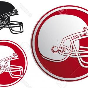 High Res Vector American Football: American Football Players Silhouette Vector