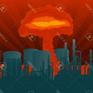 Atomic Vector Coud: Photostock Vector Hand Holding A Tree Or Atomic Bomb Vector Illustration Sketch Hand Drawn With Black Lines Isolated O