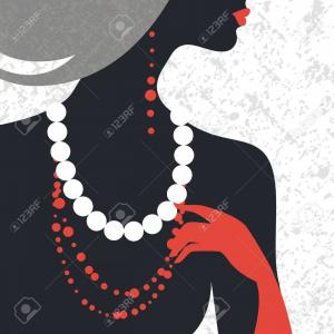 Fashion Female Silhouette Vector: Photobeautiful Fashion Woman Silhouette Flat Design
