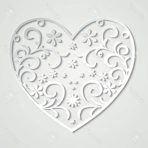 Vector Filigree Heart: Baroque Vector Set Vintage Elements Design