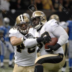 New Orleans Saints Helmet Vector: Photocedric Ellis And Troy Evans Of The New Orleans Saints Defense Celebrate After A Fumble Recovery Sep