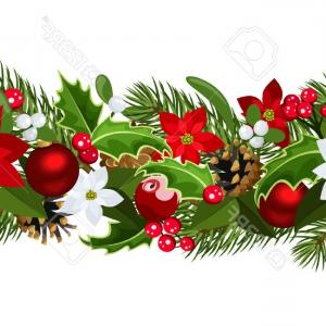 Christmas Horizontal Vector: Stylized Christmas Tree Made Of Horizontal Wooden Planks Vector Clipart