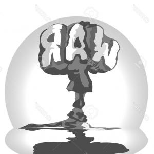 Atomic Vector Coud: Atomic Explosion Vector Clip Art Cartoon Comic Style Nuclear Mushroom Cloud Illustration Image