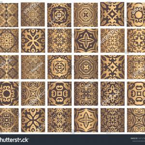 Flourish Vector Pattern: Photocolorful Ethnic Festive Abstract Damask Flourish Vector Pattern