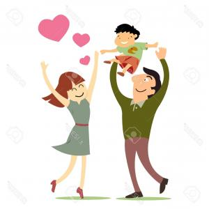 Bond Girls Vector: Photofamily Love Mother Father And Son