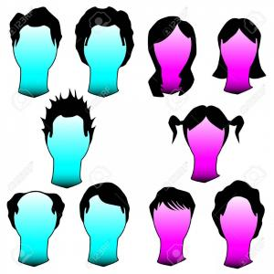 Mullet Vector Logo: Photohairstyles And Haircuts In Vector Silhouette Men And Women