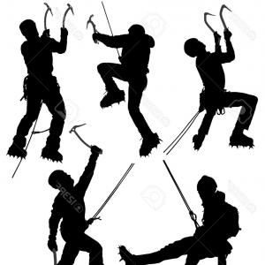 Climbing Silhouette Vector Art: Best Free Vector Rock Climbing Wall Vector Cdr