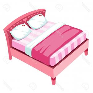 D Night Stanf Vector Graphic: Photoillustration Of Bed On White Background