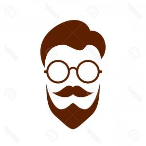 Nerd Vector: Nerd Logo Vector Illustration Glasses Style