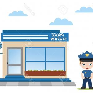 Vector Police Department: Stock Photo Vector Isometric Police Department