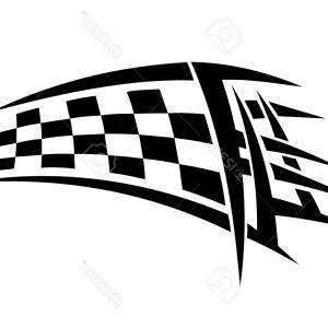 Tribal Vector Race Car: Tribal Racing Tattoo Checkered Flag Sports