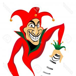 Joker Smile Vector Art: April Fools Day Dumb Happy Cartoon Joker Face Vector Gm