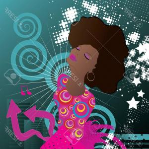 Gospel Music Background Vector: Photosoul Singer Music Background Vector Illustration