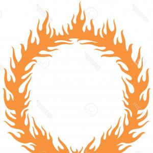 Fire Vector Graphic: Photostock Vector A Fiery Ring Burning Hoop In The Fire Vector Illustration