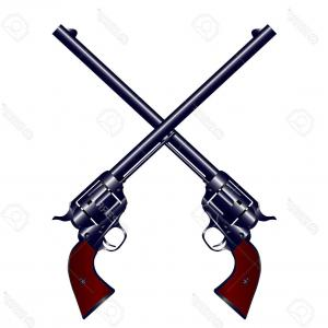 Airsoft Vector Extended Barrel: Photostock Vector A Matched Pair Of Long Barrel Six Shooters