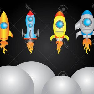 Vector Fly Machines: Photostock Vector A Spacecraft Is A Vehicle Or Machine Designed To Fly In Outer Space Spacecraft Are Used For A Variet